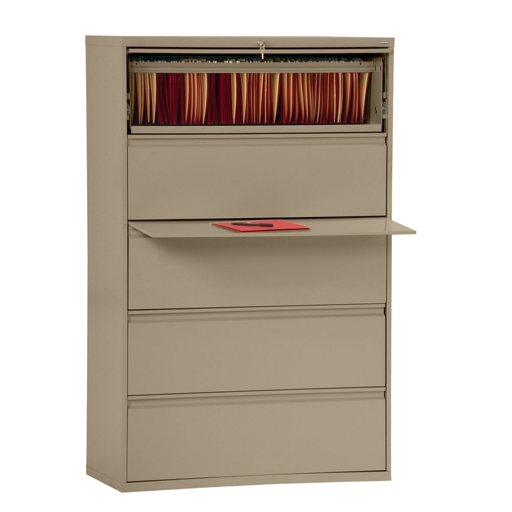 800 Series 5 Drawer Lateral File Tropic Sand Color