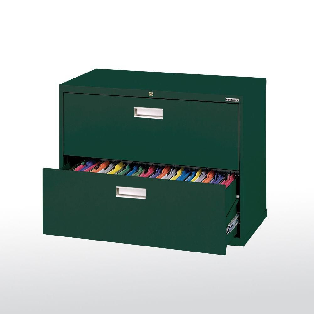 600 Series 2 Drawer Lateral File Forest Green Color