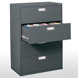 Sandusky 600 Series 36-inch x 53.25-inch x 19.25-inch 4-Drawer Metal Filing Cabinet in Grey