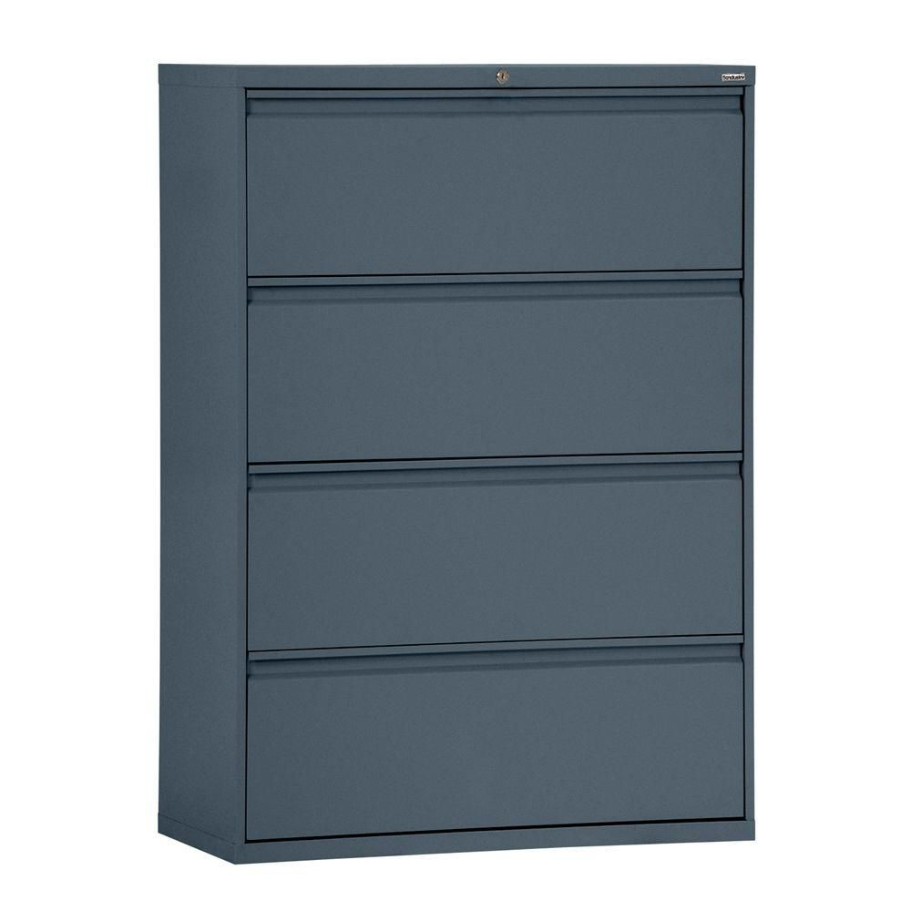 800 Series 4 Drawer Lateral File Charcoal Color LF8F364-02 Canada Discount