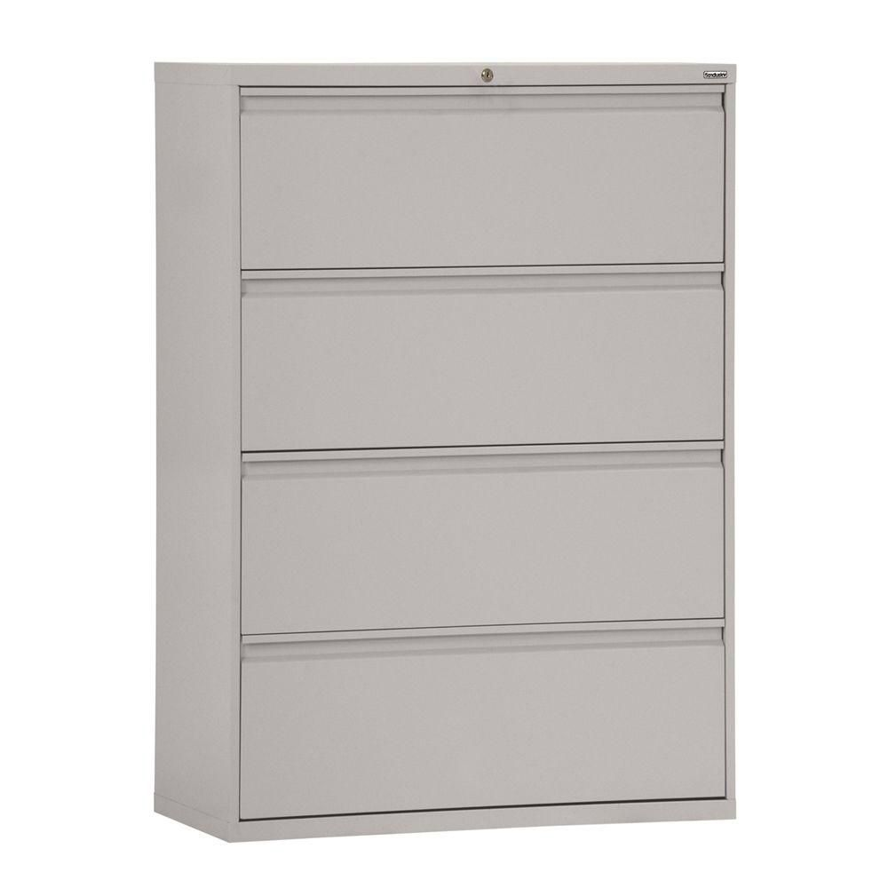 800 Series 4 Drawer Lateral File Dove Gray Color