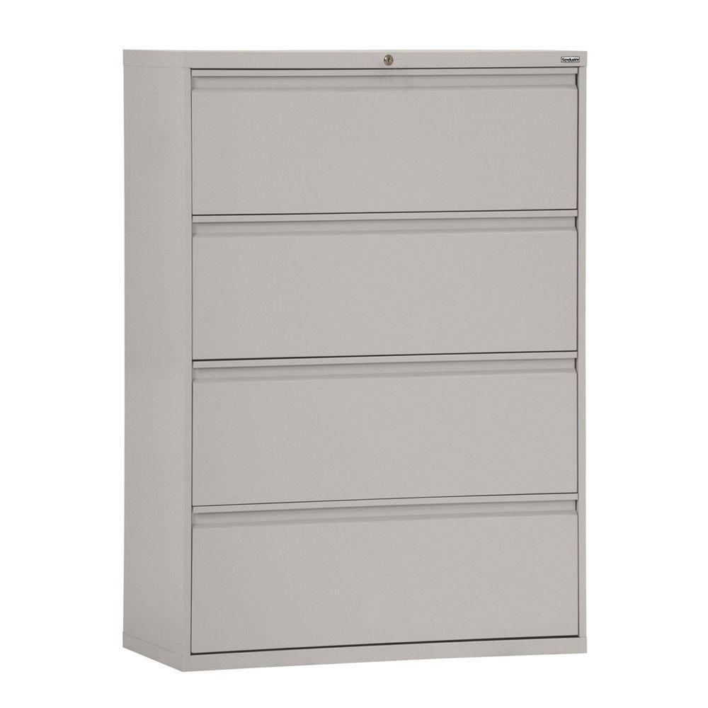 800 Series 4 tiroirs Couleur latéral Dove fichier Gris