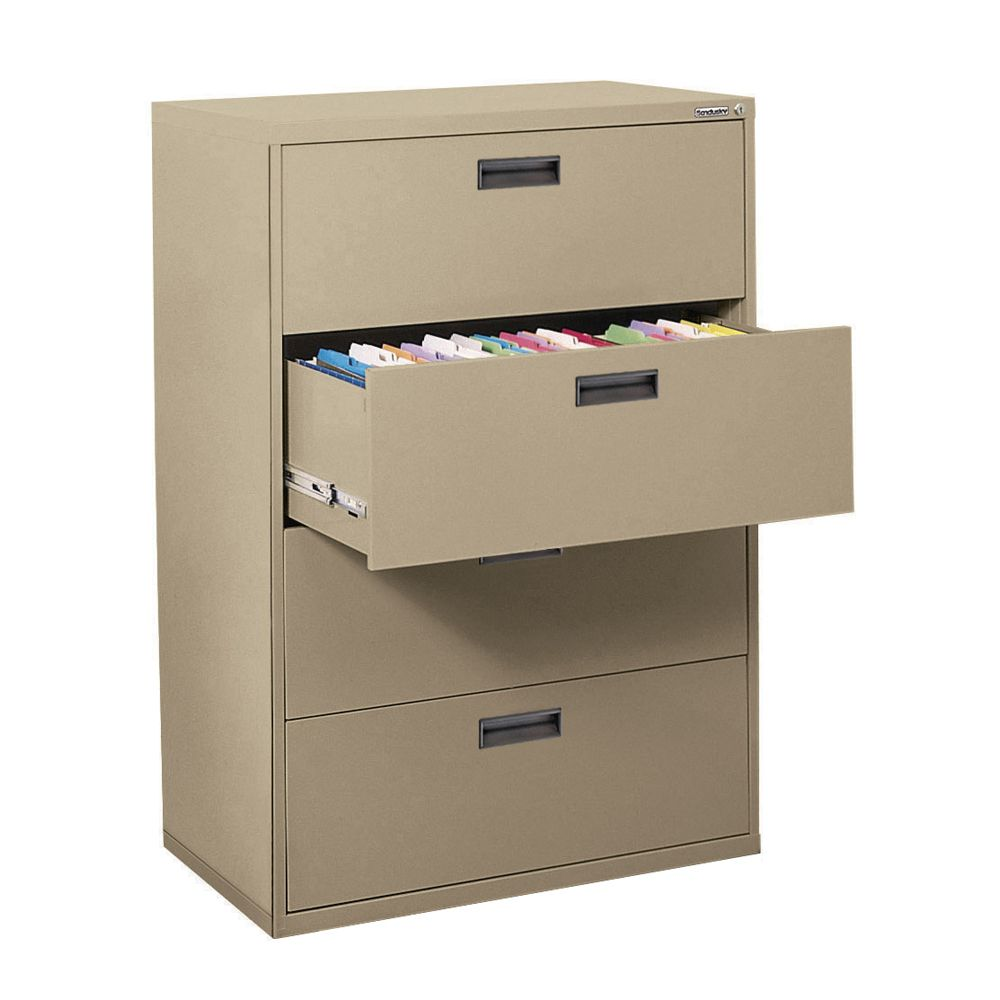 400 Series 4 Drawer Lateral File Tropic Sand Color