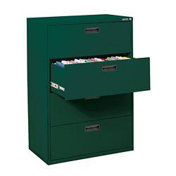 Sandusky 400 Series 30-inch x 50.25-inch x 18-inch 4-Drawer Metal Filing Cabinet in Green