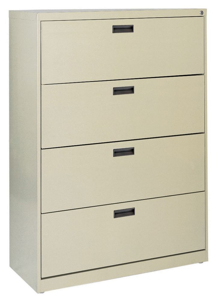 400 Series 4 Drawer Lateral File Putty Color