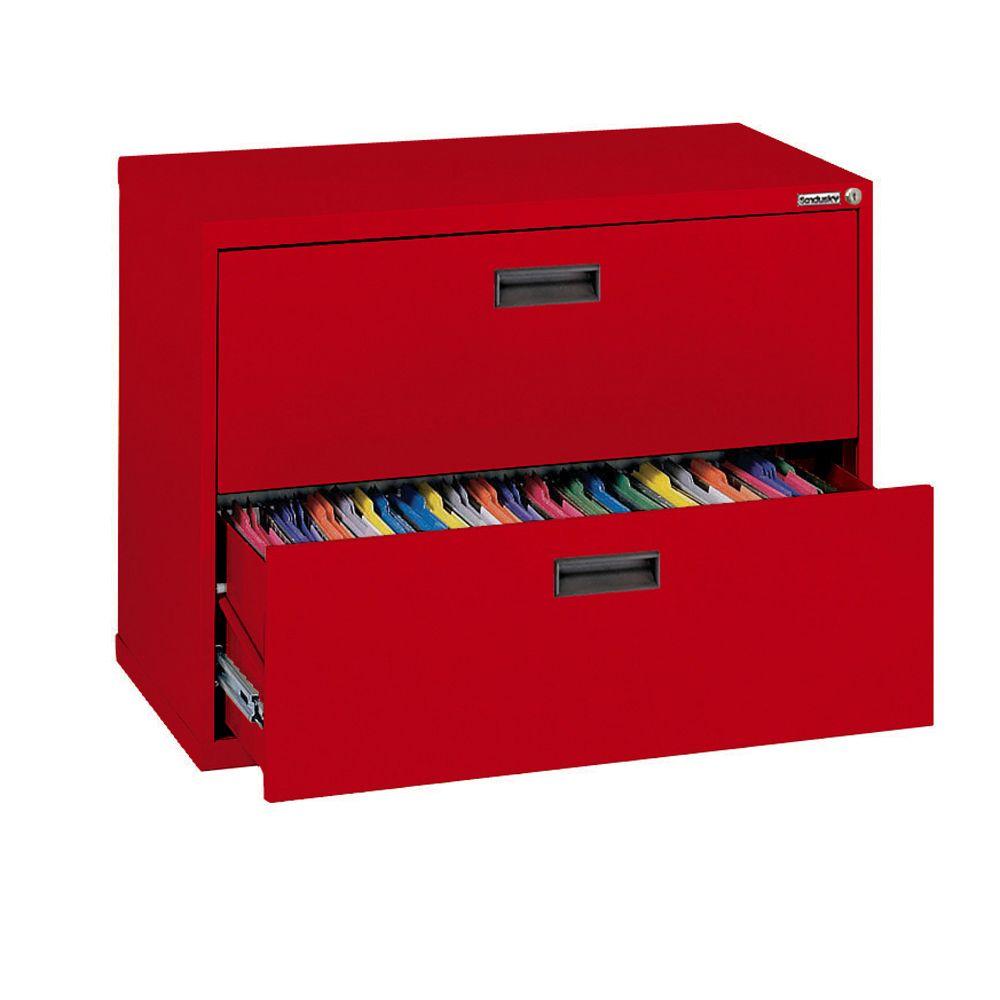 Série 400 2 tiroirs Classeur latéral Couleur Rouge