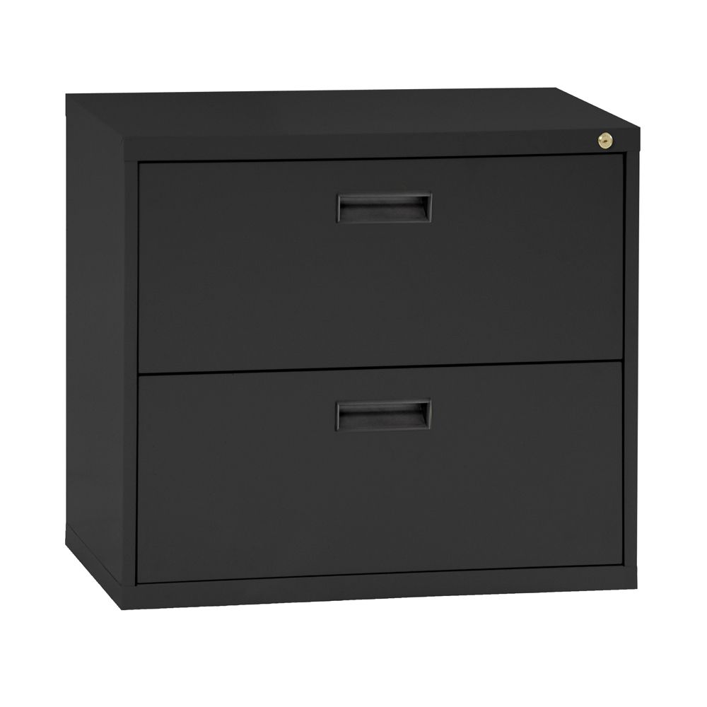 400 Series 2 Drawer Lateral File Black Color