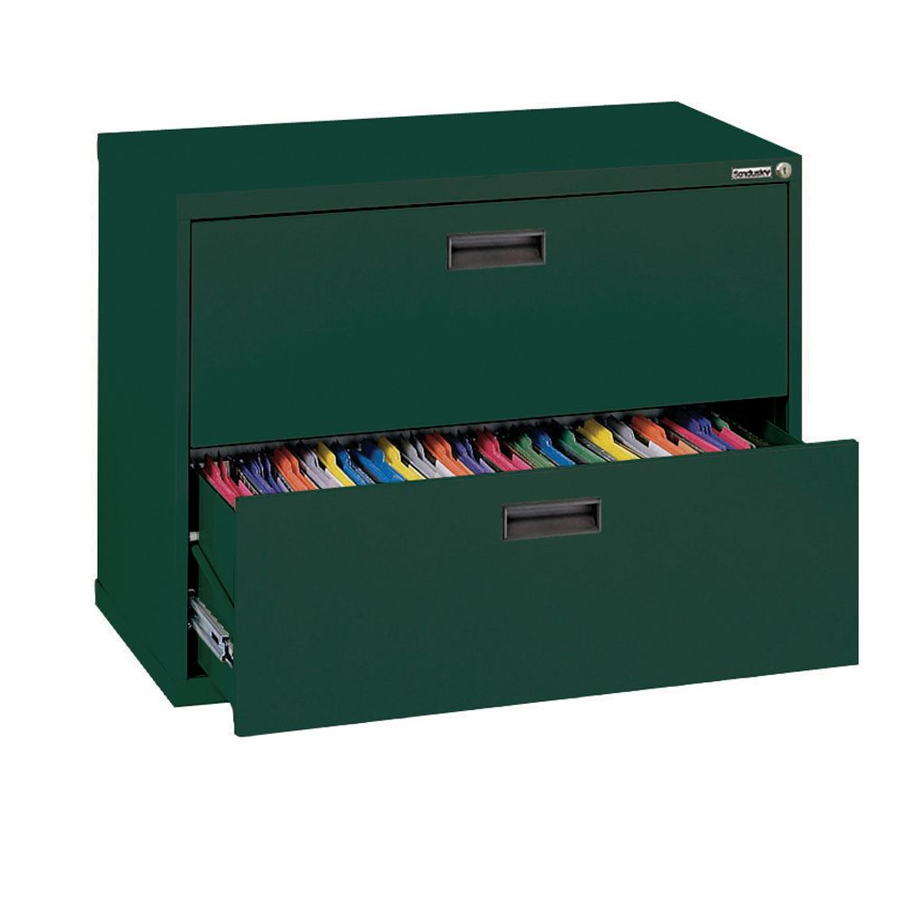 400 Series 2 Drawer Lateral File Forest Green Color