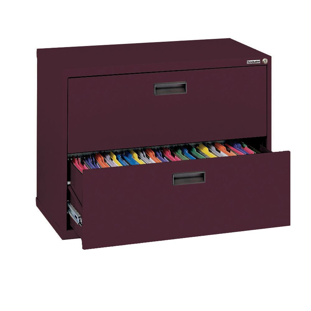 400 Series 2 Drawer Lateral File Burgundy Color