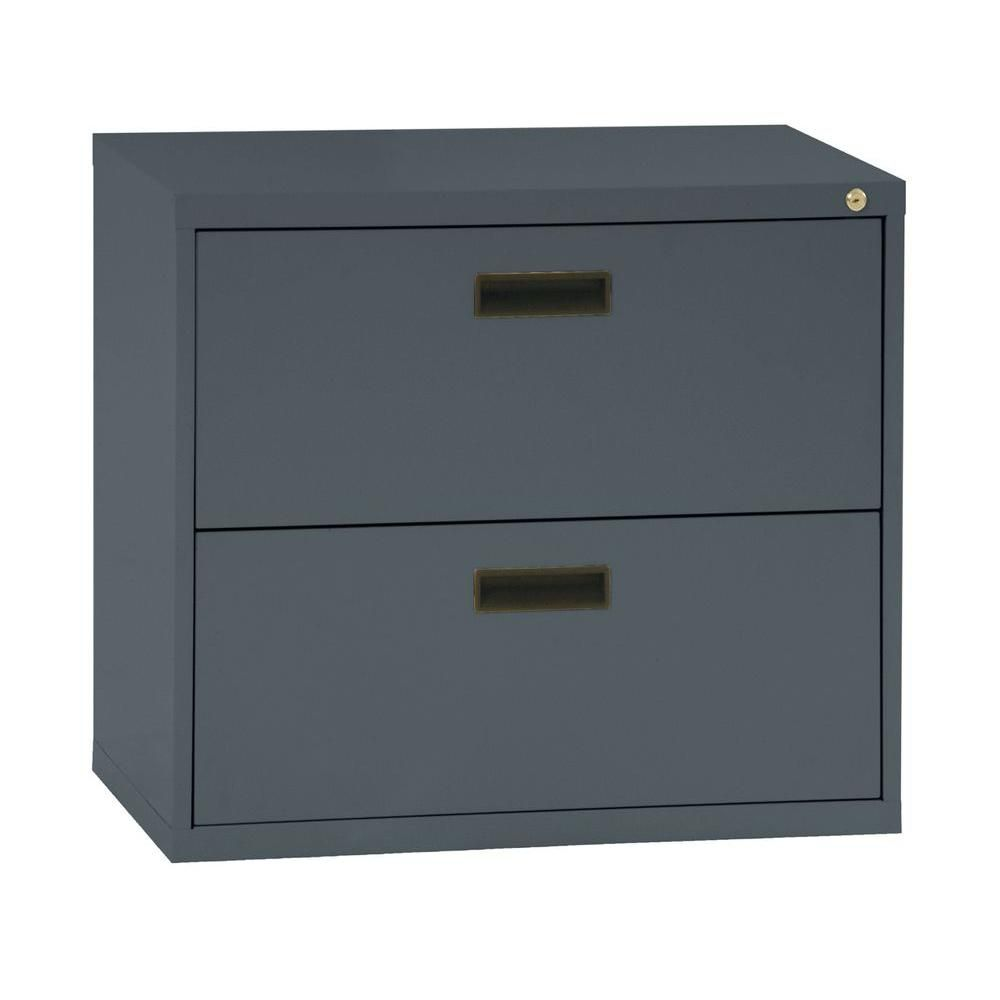 400 Series 2 Drawer Lateral File Charcoal Color