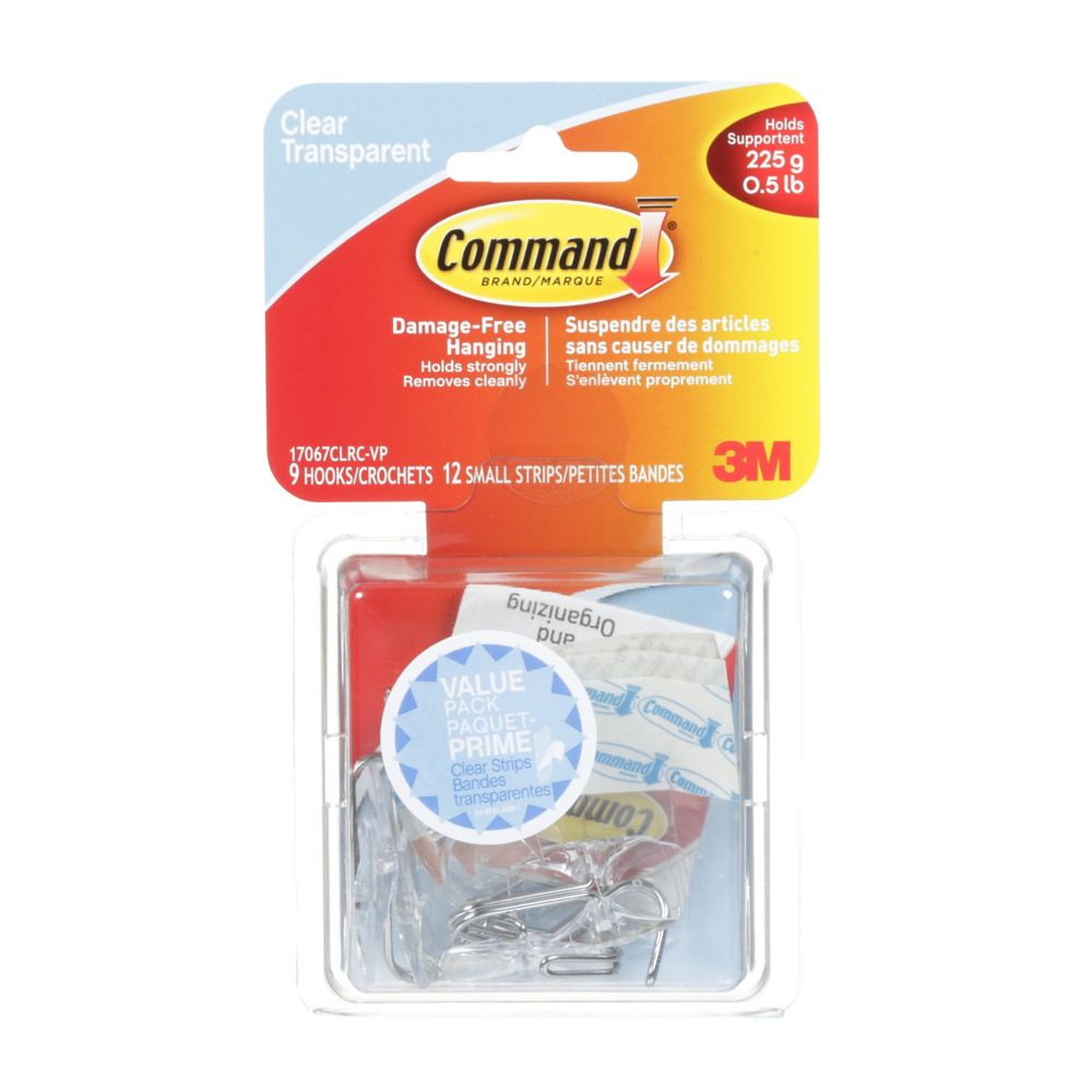 Command Clear Small Utensil Hook Value Pack
