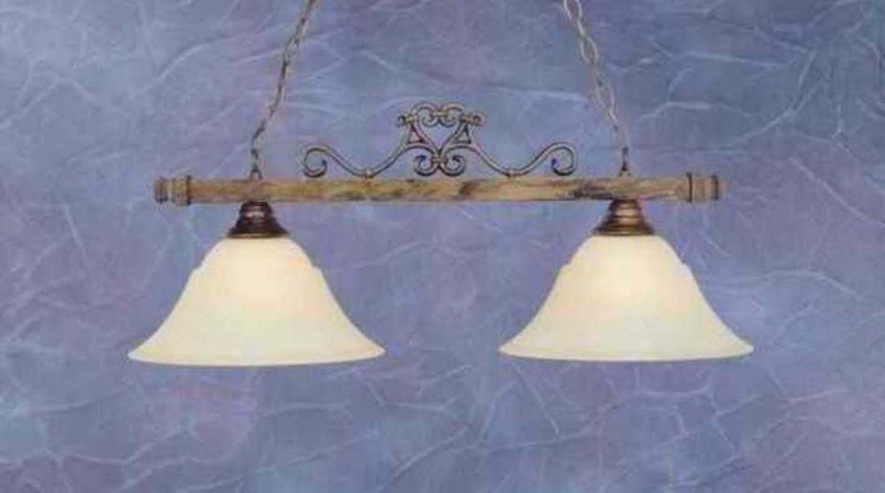 Concord 2-Light Ceiling Bronze Island Pendant with an Amber Glass