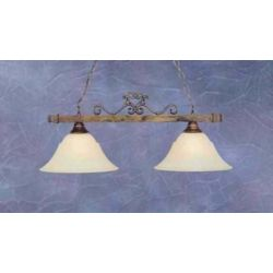 Filament Design Concord 2-Light Ceiling Bronze Island Pendant with an Amber Glass