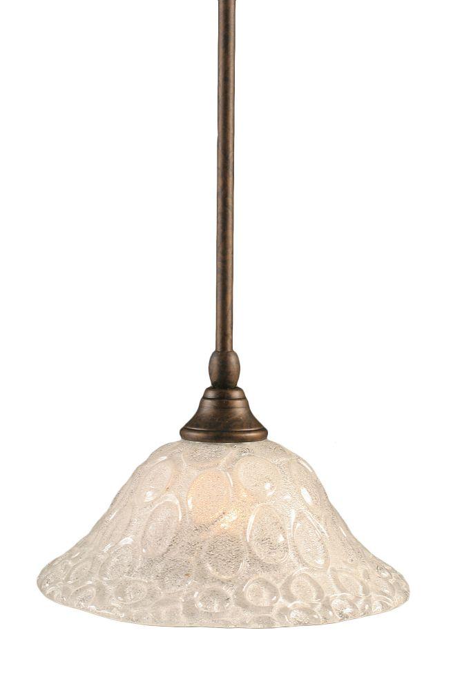 Concord 1 lumière au plafond Bronze Pendeloque incandescence par une verre cristal