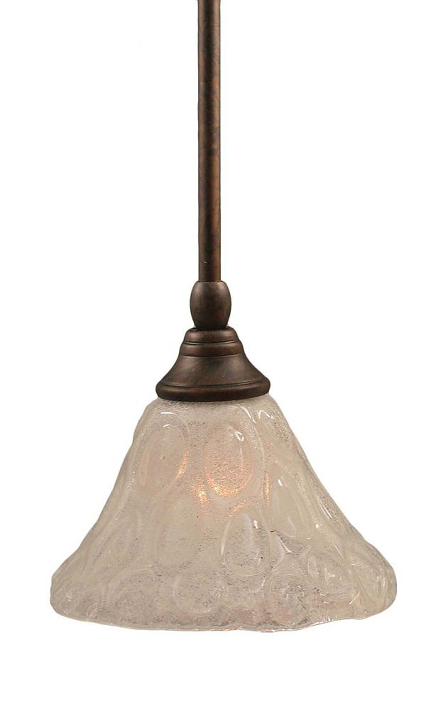 Concord 1-Light Ceiling Bronze Pendant with a Clear Crystal Glass