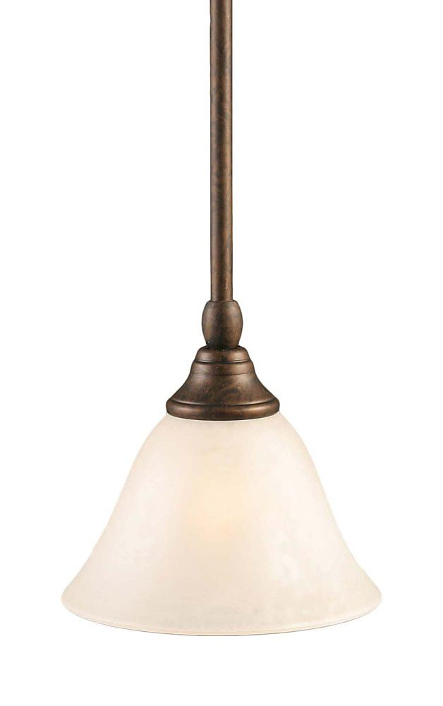 Concord 1-Light Ceiling Bronze Pendant with a White Marble Glass