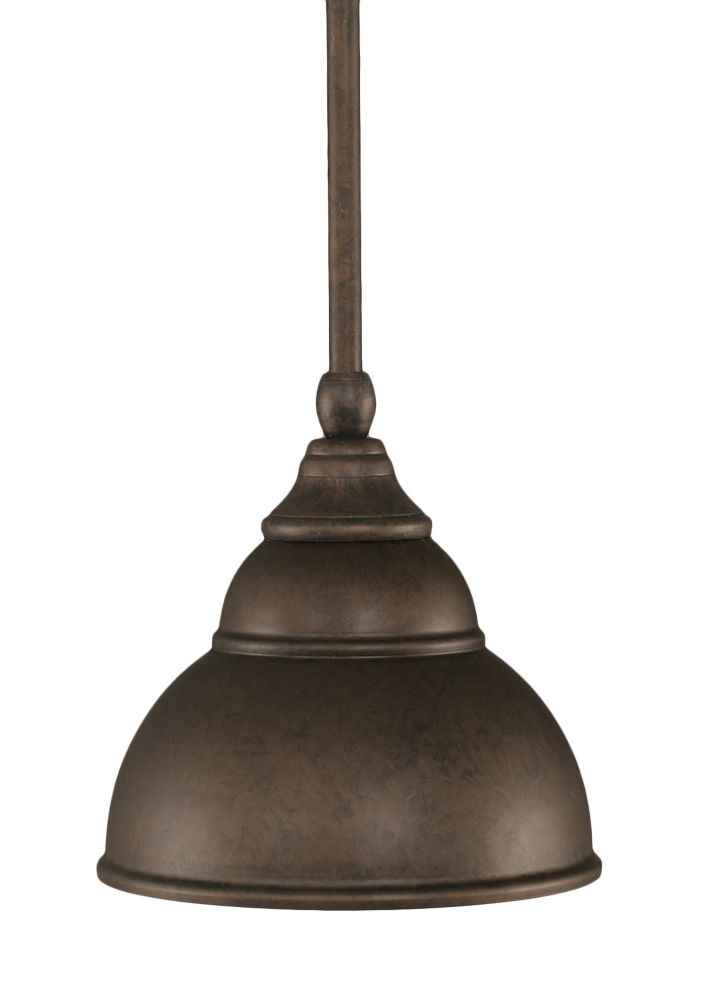Concord 1-Light Ceiling Bronze Pendant with a Bronze Glass