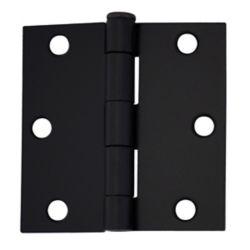 Everbilt 3 Inch Iron Black Door Hinge (2-Pack)
