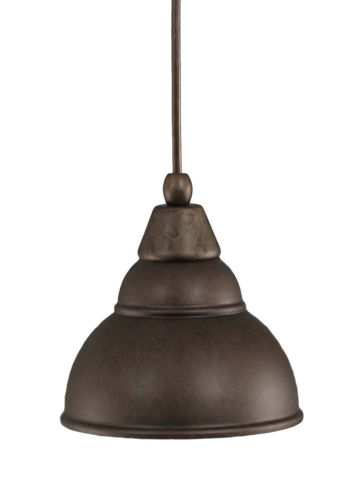 Concord 1 Light Ceiling Bronze Incandescent Pendant with a Bronze Glass