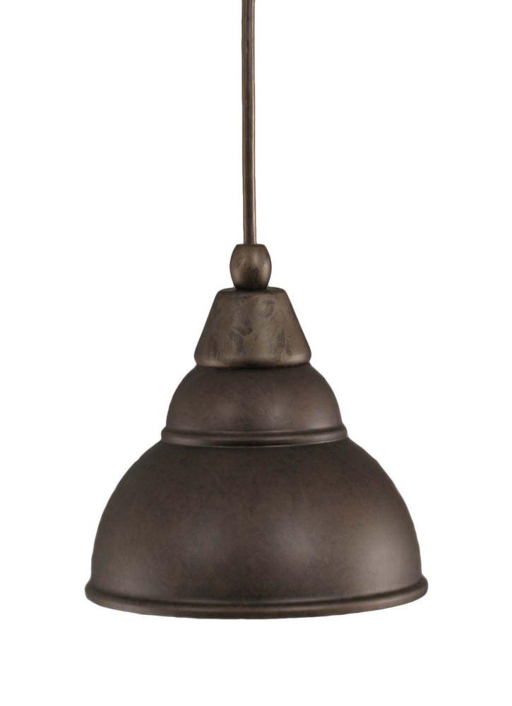 Concord 1 lumière au plafond Bronze Pendeloque à incandescence avec un verre Bronze