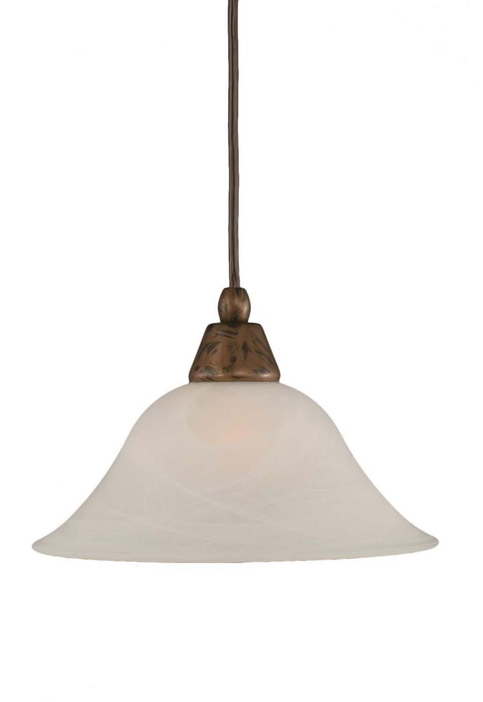 Concord 1-Light Ceiling Bronze Pendant with an Alabaster Glass