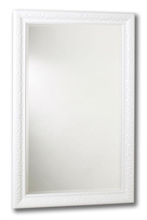 Tangerine mirror co miroir razzle dazzle blanc laqu 24 for Miroir home depot