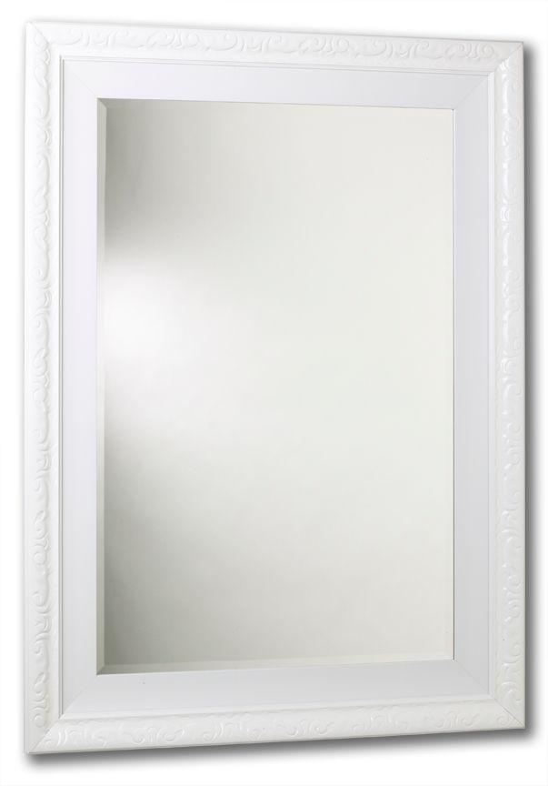 Miroir Razzle Dazzle, Blanc laqué , cadre double, 20 po x 24 po.