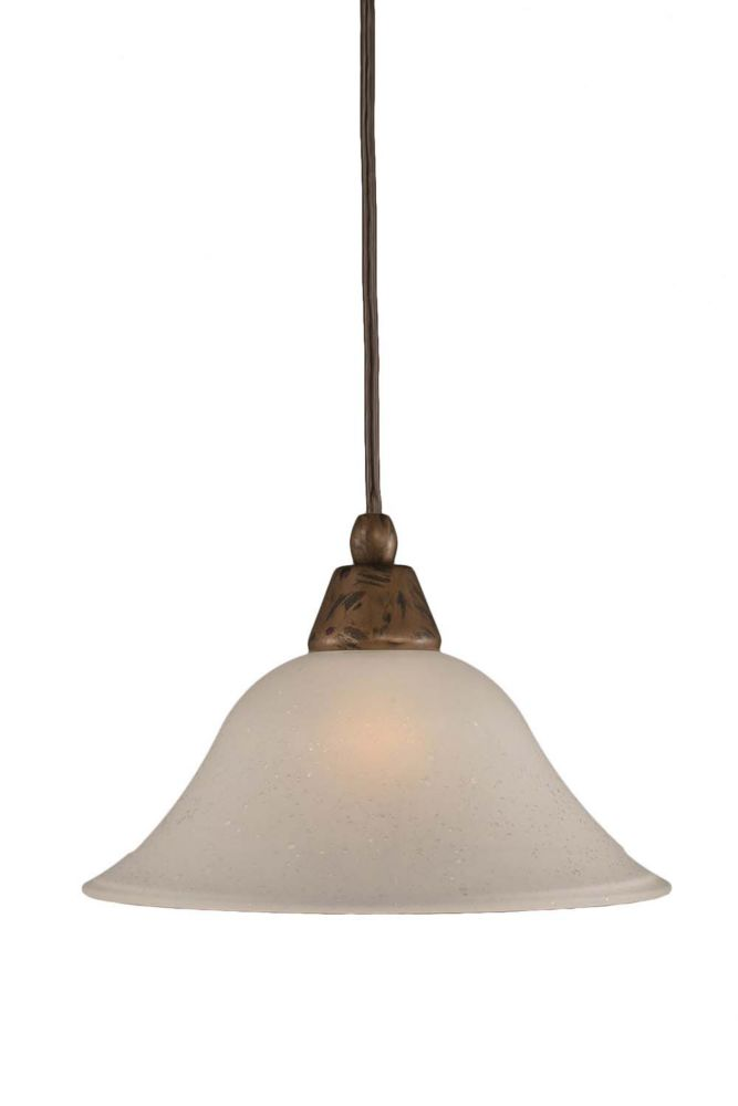 Concord 1-Light Ceiling Bronze Pendant with a Dew Drop Glass