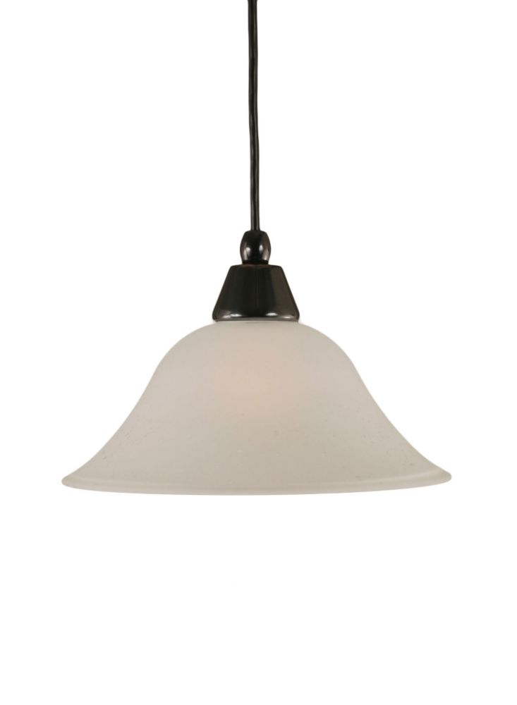 Concord 1-Light Ceiling Black Copper Pendant with a Dew Drop Glass