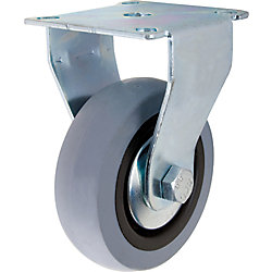 Everbilt 3 inch TPR Rigid Caster with 121 lb. Load Rating
