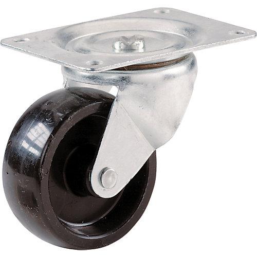 Roulette pivotante en polypropylène de 50 mm avec capacité de charge de 57 kg