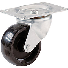 2 inch Polypropylene Swivel Plate Caster with 125 lb. Load Rating