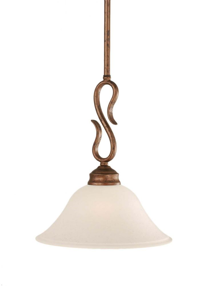 Concord 1 Light Ceiling Bronze Incandescent Pendant with a Dew Drop Glass