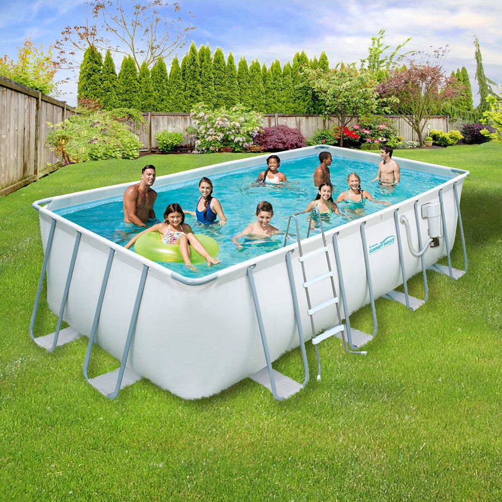 Polygroup proseries 9 ft x 18 ft x 52 inch deep for Square above ground pool