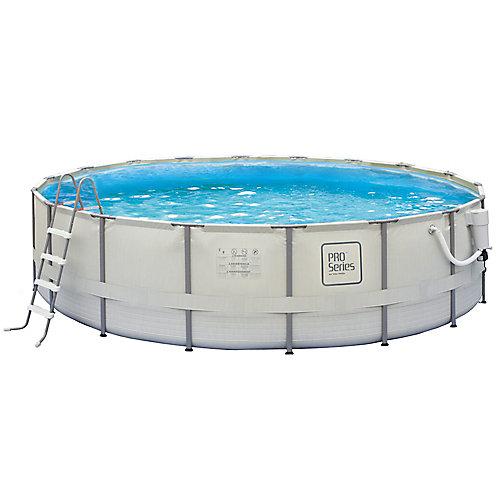 Ensemble de piscine à cadre métallique Pro Series 24pi (7,32m) de circonférence x 52po (1,32m) de profondeur