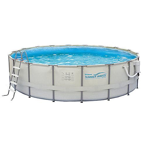 Ensemble de piscine à cadre métallique 4,57 m (15 pi) de circonférence x 122 cm (48 po) de profondeur