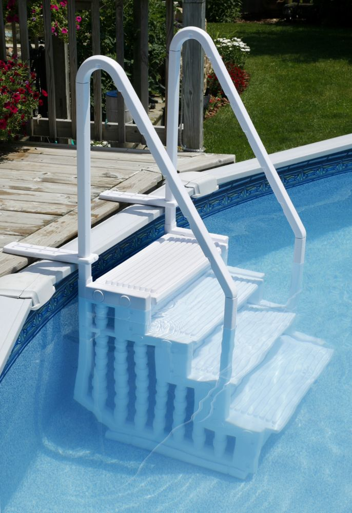 Blue wave marches easy pool step pour piscines hors terre for Pool terre pour piscine