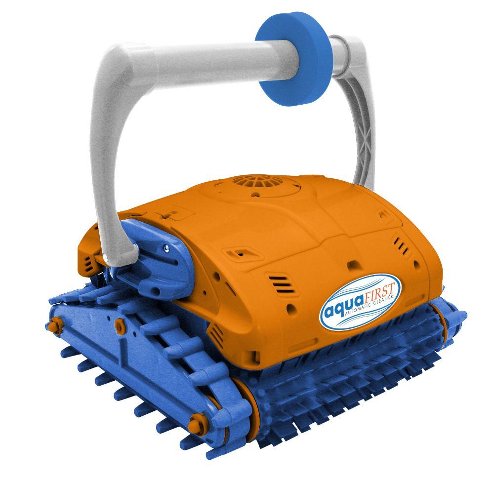 Nettoyeur robotisé Aquafirst Premium escaladeur de parois pour piscines creusées