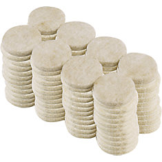 1-inch Beige Heavy-Duty Self-Adhesive Felt Pads (96-Pack)