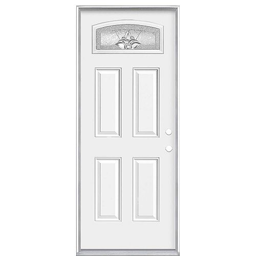 Masonite 32-inch x 80-inch x 4-9/16-inch Providence Camber Fan Left Hand Entry Door