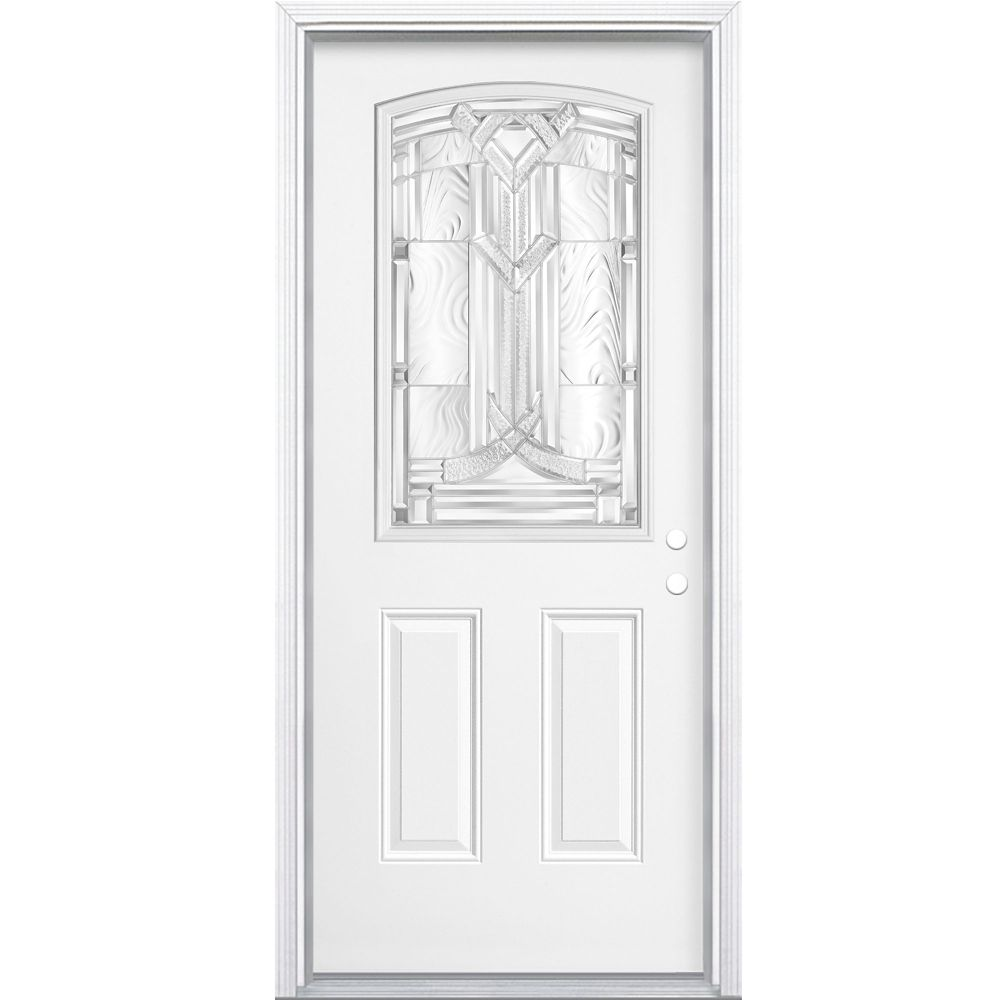 Masonite 34-inch x 4 9/16-inch Chatham Camber 1/2-Lite Left Hand Entry Door
