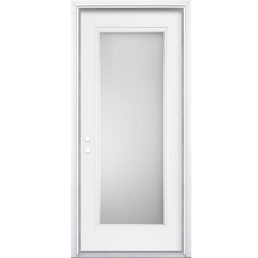 34-inch x 7 1/4-inch Sandgate Full Lite Right Hand Entry Door