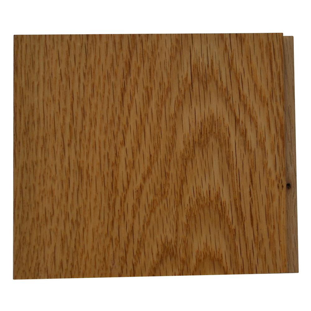 Échantillon - Plancher, bois massif, 4 1/4 po, chêne rouge naturel