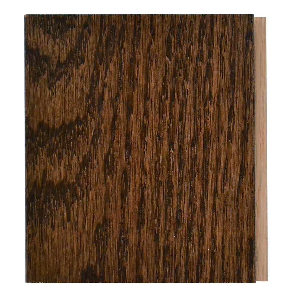 Échantillon - Plancher, bois massif, 3 1/4 po, noyer chêne