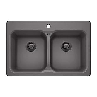 Blanco vision 210 cinder drop in granite kitchen sink the home vision 210 cinder drop in granite kitchen sink workwithnaturefo