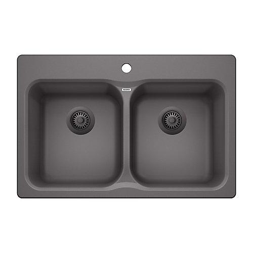 Vision 210 Cinder Drop-in Granite Kitchen Sink