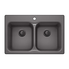 Vision 210 Cinder Drop-in Granite Kitchen Sink