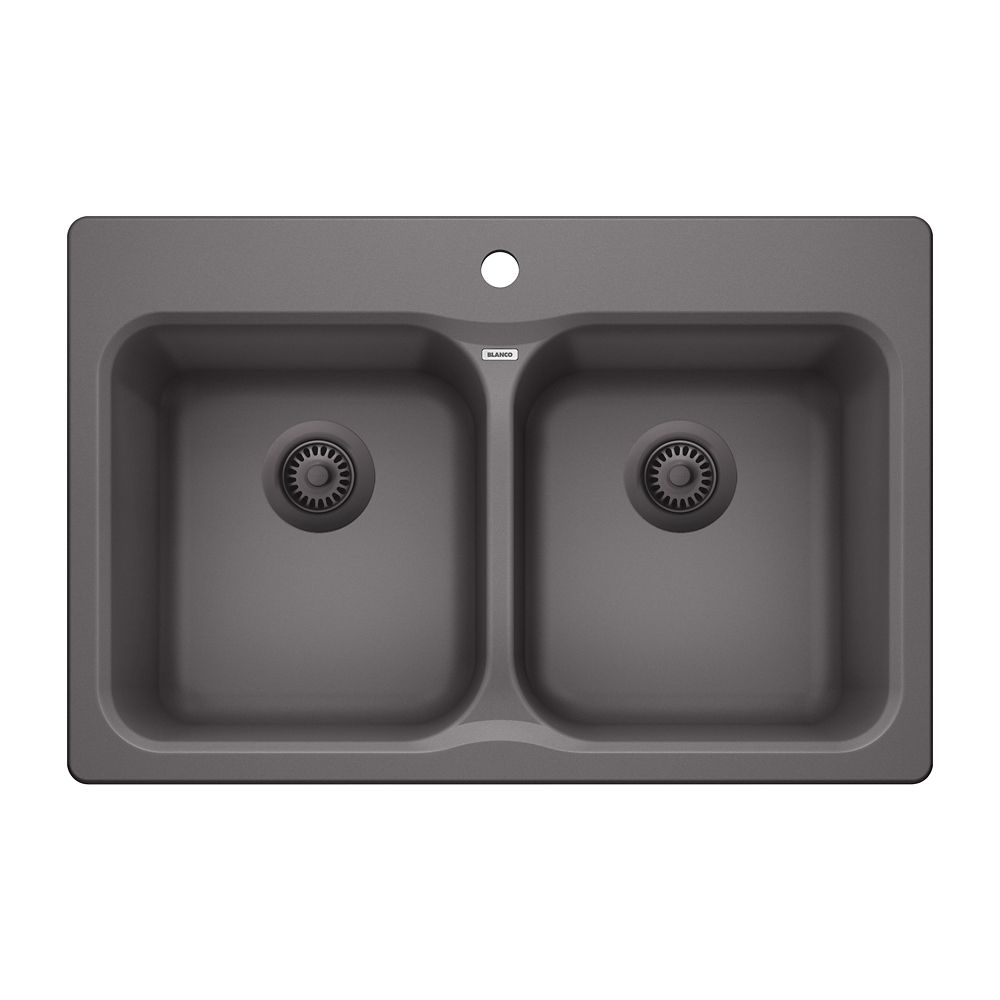 Blanco Vision 210 Cinder Drop-in Granite Kitchen Sink