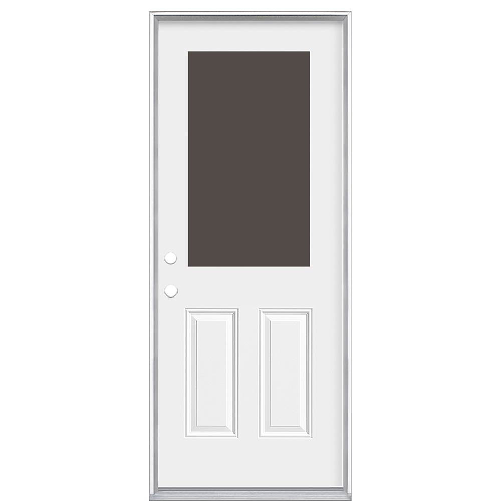 Mobile Home Replacement Doors Exterior: 36-inch X 6 9/16-inch 1/2-Lite Cutout Right Hand Entry
