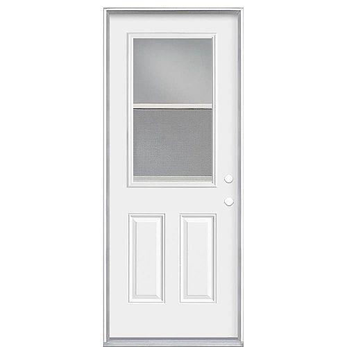 Masonite 32-inch x 80 x 4 9/16-inch Venting 1/2-Lite Left Hand Low-E Door - Energy Star